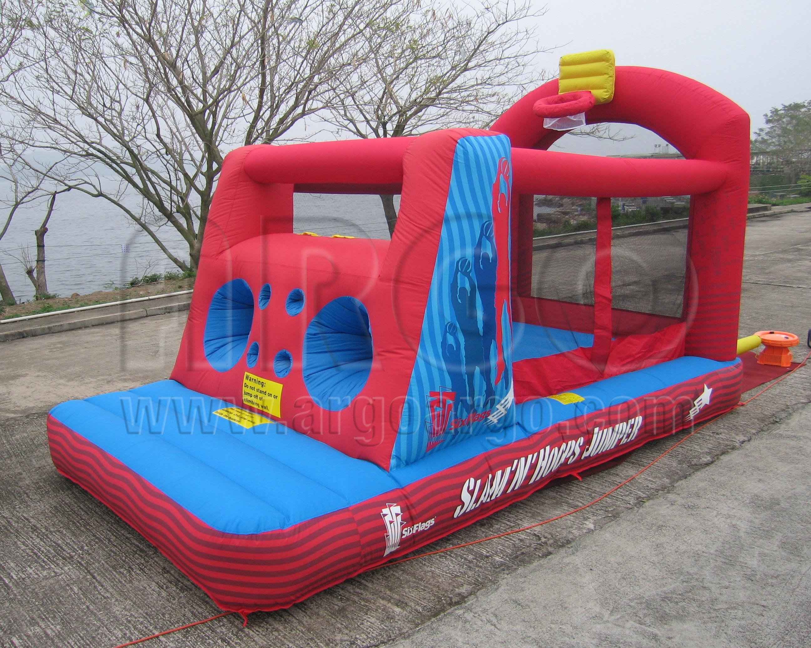 Slam N Hoops Bouncy Castle