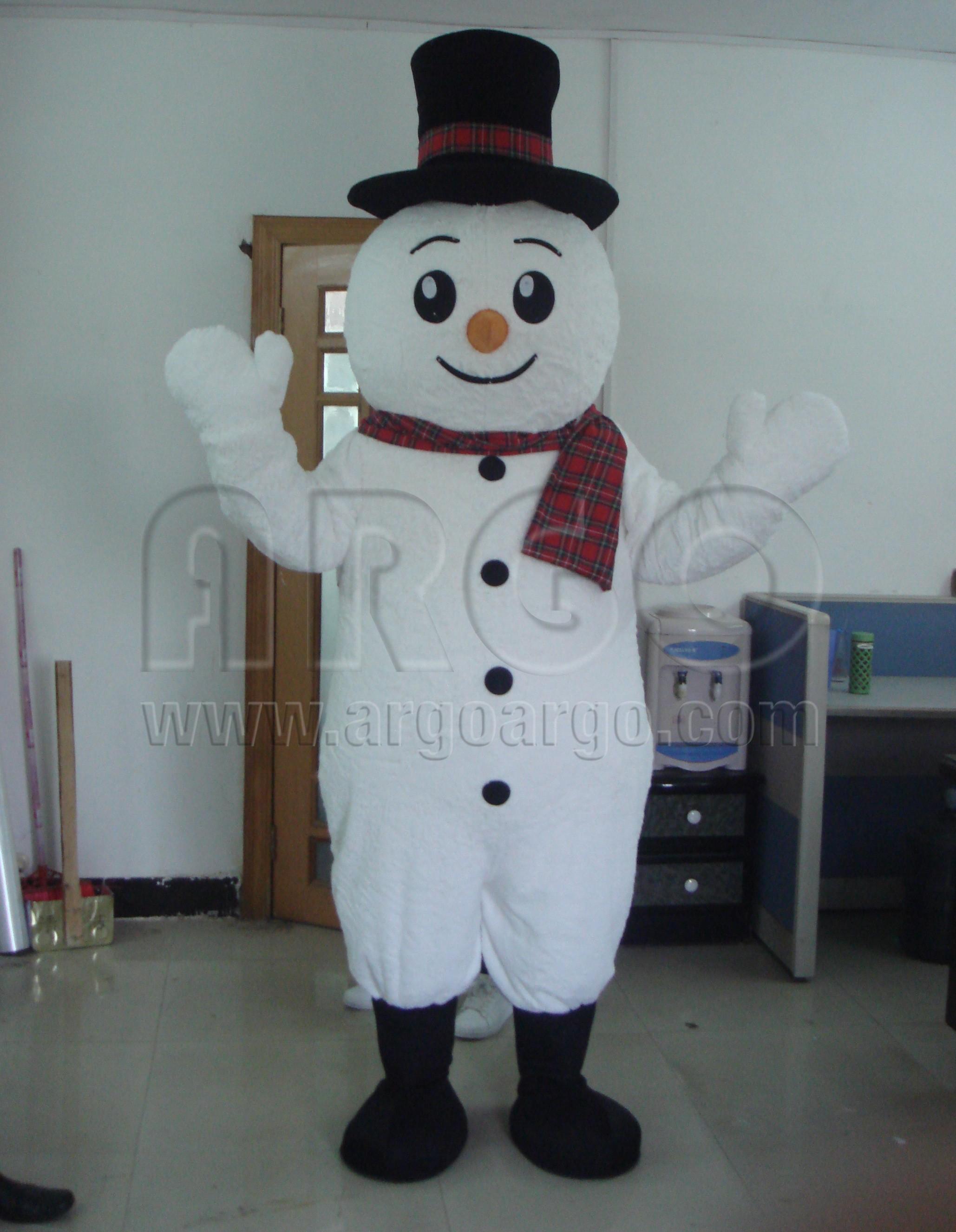 Snow Man Mascot