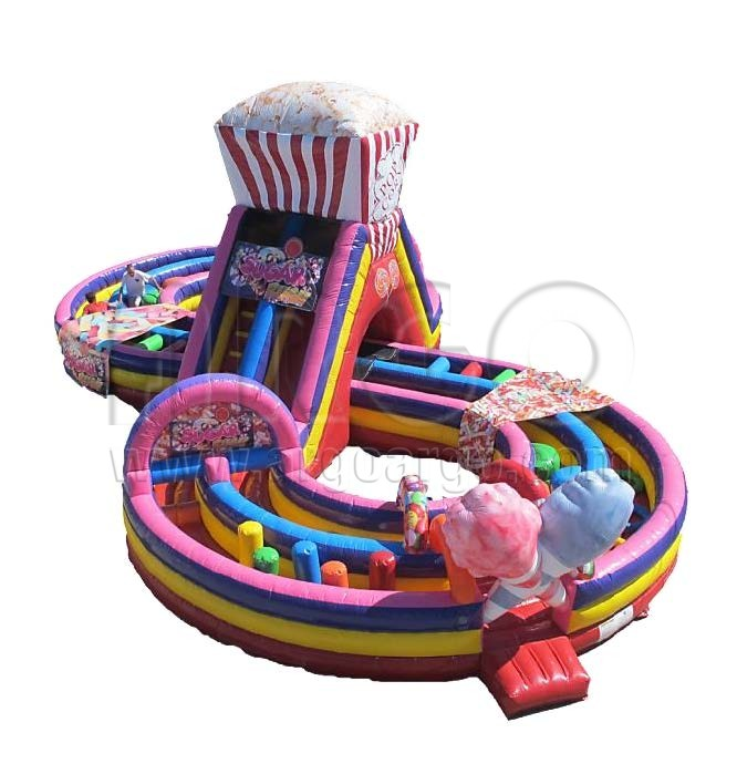 Sugar Rush Inflatable Obstacle Course